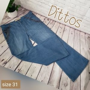 Dittos Vintage Inspired Flare Blue Jeans size 31